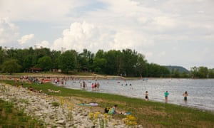 The altercation took place at Lake Monroe, south of Bloomington, Indiana.