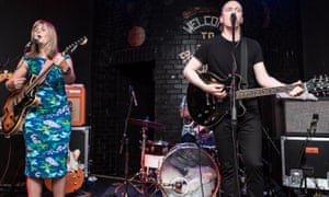 Frances McKee and Eugene Kelly of The Vaselines performing on stage at Leeds' Brudenell Social Club on 30 September 2014