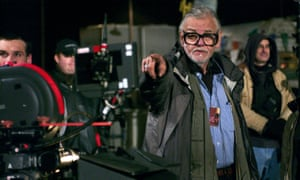George A Romero on the set of Land of the Dead in 2005.
