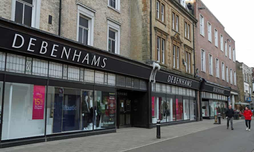 The Debenhams department store in Winchester, Hampshire