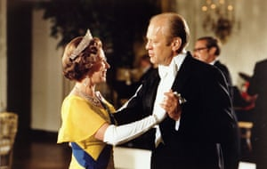 Dancing with Gerald Ford at the White House during the 1976 bicentennial celebrations of the Declaration of Independence