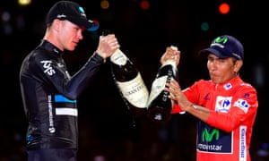 Nairo Quintana, right, and Chris Froome have both had plenty to celebrate this year