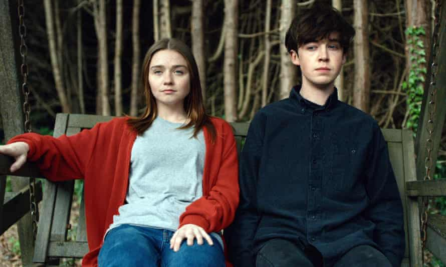 Jessica Barden and Alex Lawther in The End of the F***ing World.