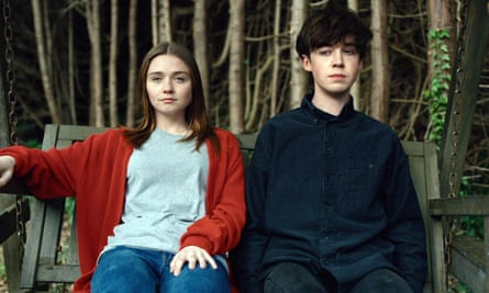 Jessica Barden as Alyssa and Alex Lawther as James.