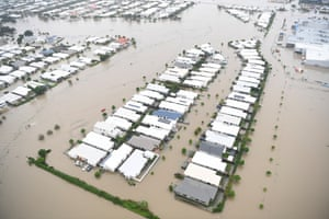 Townsville, AustraliaA general view of the flooded suburb of Idalia. Queensland Premier Annastacia Palaszczuk has warned Townsville residents that flooding has not yet reached its peak as torrential rain continues.