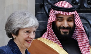 Theresa May and Mohammed bin Salman in London, March 2018.