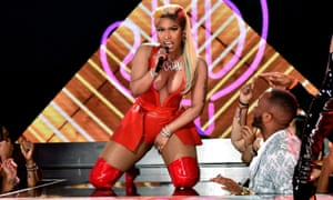Nicki Minaj performs at the 2018 BET awards.
