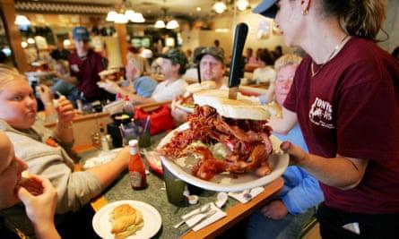 A bacon sandwich served at a diner in Birch Run, Michigan