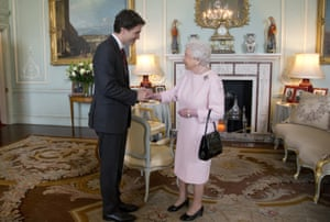 Queen Elizabeth II Meets Canadian Prime Minister Justin Trudeau