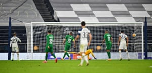 Tottenham Hotspur's Lucas Moura scores their fourth goal.