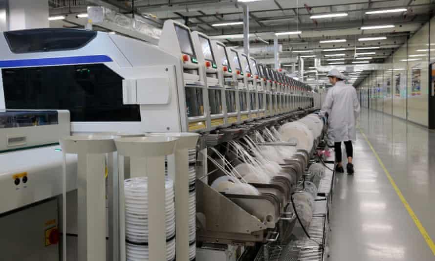 A Huawei production line