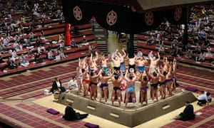 Tokyo: A sumo tournament takes place in front of spectators for the first time in six months