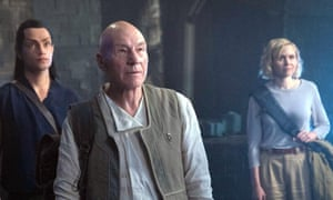 Bold new mission ... Alison Pill, right, with Stewart in new series Star Trek: Picard.