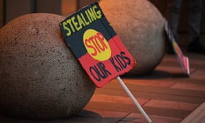 A sign from a Sydney march opposing the forced removal of Aboriginal children