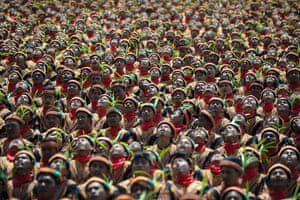 More than 10,000 participants stage a record-breaking traditional Saman dance in Aceh, Indonesia