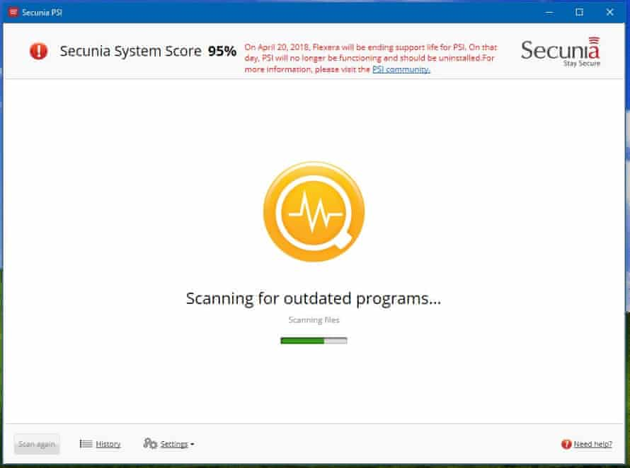 Secunia software on PC - Ask Jack