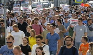 moscow protest rally on 27 july