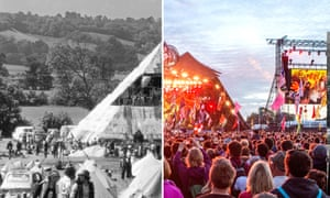 Pyramid stage in 1971 and 2015