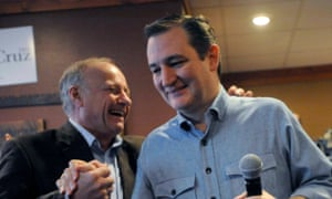 Congressman Steve King, seen with Republican presidential candidate Ted Cruz