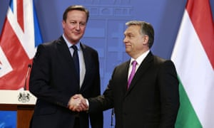 David Cameron with Hungarian prime minister Viktor Orbán in January 2016