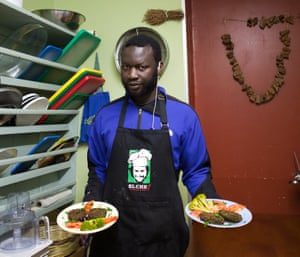 'I was born in a restaurant, owned by my grandma': Sall Abdul Aziz, from Senegal.