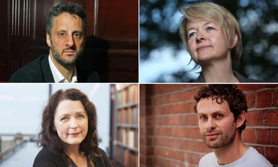 Writers Adam Foulds, Sarah Waters, Helen Simpson and Ross Raisin