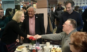 Gillibrand meets with friends and supporters at the Country View Diner during a news conference on Wednesday, in Brunswick, NY, on Wednesday.