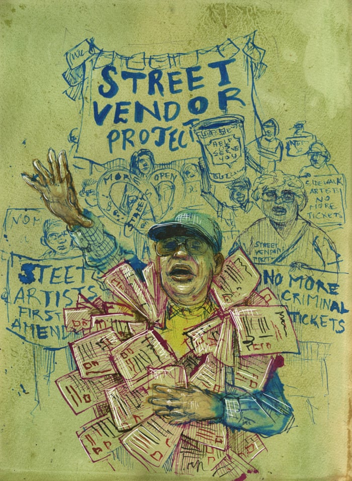 Inside The Impossible Life Of A New York Street Vendor US News - This artists genius work interacts with the streets of new york