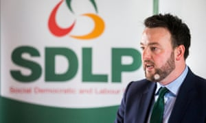 Colum Eastwood during the launch of SDLP election campaign at the Newcastle Centre, Co. Down.