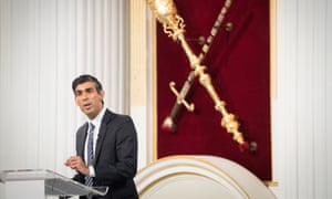 Chancellor of the Exchequer Rishi Sunak delivering his 'Mansion House' speech in the City of London.