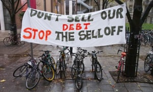 Don't sell off our student loans poster