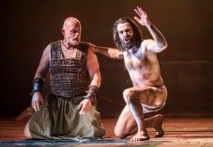 Aidan Kelly as Abaddon and Ramzi Choukair as Iokanaan in Salomé.