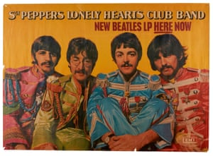 Sgt. Pepper's Lonely Hearts Club Band promotional poster, 1967 Sgt. Pepper's Lonely Hearts Club Band was the eight studio album by the Beatles and released on 1 June 1967 in the UK and the following day in the US. It raced to number one on both sides of the Atlantic, spending 27 weeks at number one in the UK and 15 weeks in the US. Radio stations scrapped their planned scheduling and began to play the album in full, uninterrupted from start to finish.Estimate: £3,000-5,000