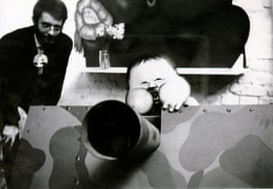 "Aachen Performance: ""The Only Respectable Weapon""German-Danish Days, A Week in Aachen 15 - 22 April 1967 at Galerie Aachen, Wallstr. 58The early ""Vietnam. Vietnam. Vietnam."" performance, which took place during German-Danish Days, A Week in Aachen, 15 - 22 April 1967. ""The Only Respectable Weapon"" was used during the performanceAll photographs: Jörg Immendorff/Courtesy VW (Veneklasen/Werner) Berlin"