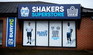 The Bury superstore was shut on Thursday and advertising last season's kit.