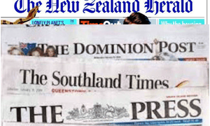 New Zealand's cash-strapped newspapers.