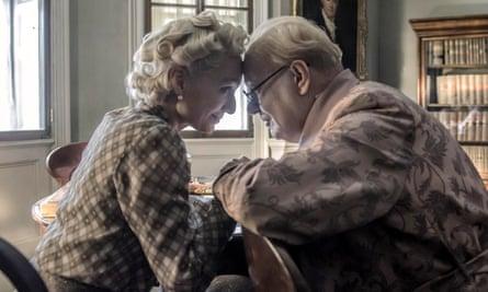 Kristin Scott Thomas and Gary Oldman as Clementine and Winston Churchill in Darkest Hour.