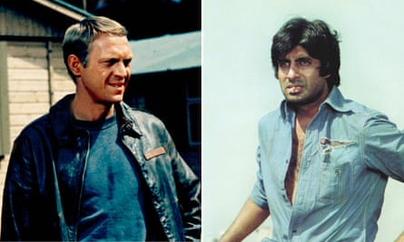 Steve McQueen in The Great Escape and Amitabh Bachchan in Sholay