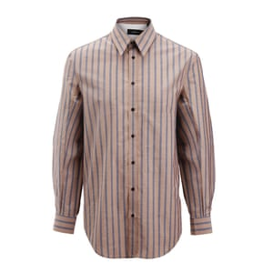 brown and grey striped shirt Joseph