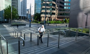 The streets in Birmingham's Colmore business district remain largely empty, despite office workers being allowed back to work.