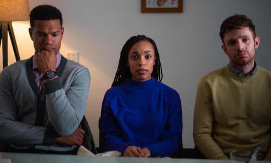 Sullivan Jones, Jasmine Batchelor and Chris Perfetti in The Surrogate