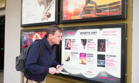 'I ring the cinema … it refers me to the website.'