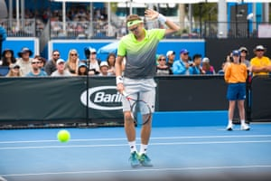 Denis Istomin reacts to a bad shot.