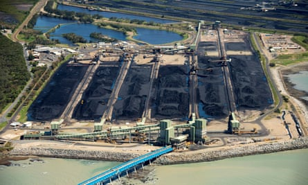 The Hay Point coal terminal south of Mackay