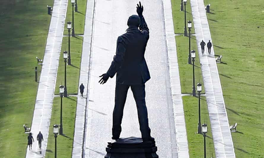 Sir Edward Carson's statue in the grounds of Stormont in Belfast.