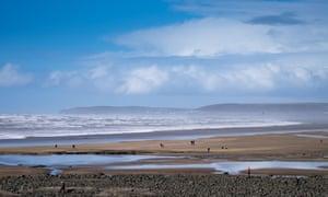 The Beach at Westward Ho! in Devon, England, UK