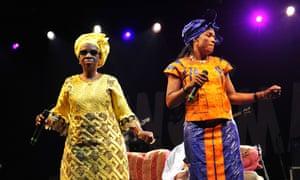 Mariam Doumbia and Mamani Keita of Les Amazones d'Afrique.