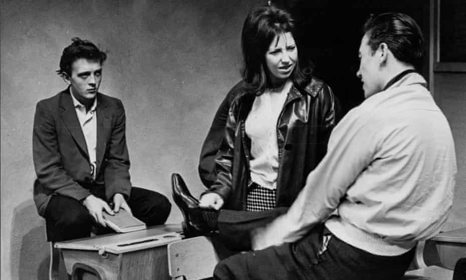 Riveting drama … from left, David Hemmings, Chloe Ashcroft and Phillip Martin in Skyvers at the Royal Court.
