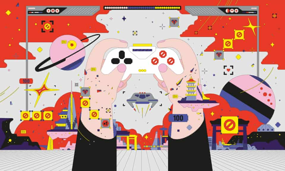 Illustration for long read on the Chinese gaming industry - 15th July 2021