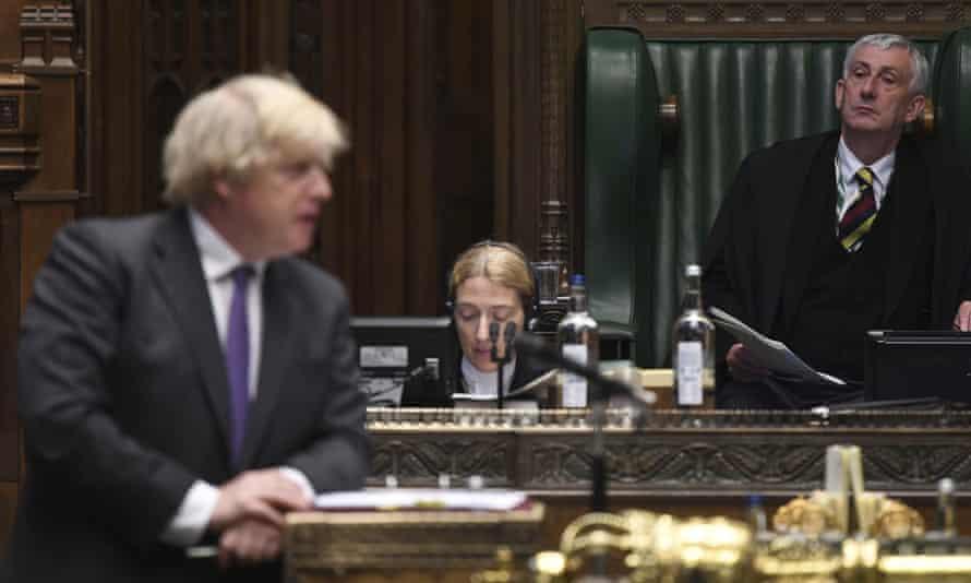 Boris Johnson and the Speaker, Lindsay Hoyle